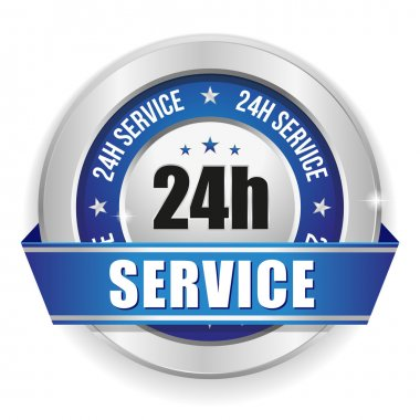 Twenty-four hour service badge