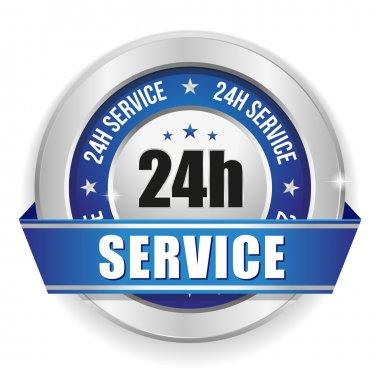 Twenty-four hour service badge
