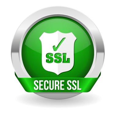 Green round ssl certified button