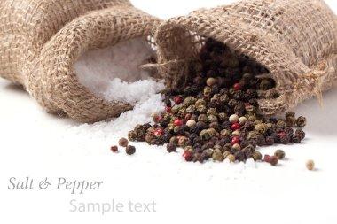salt and pepper scattered