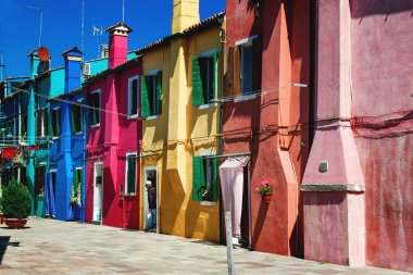 Colorful houses on Burano