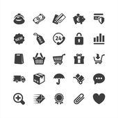 E-Commerce-Symbole gesetzt