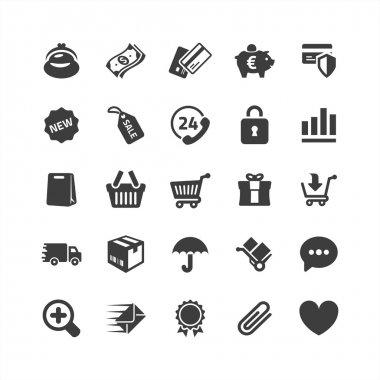 Retina ready icons set stock vector