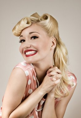 Pin-up happy girl portrait