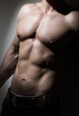 Young muscular man's torso