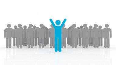 3d illustration of leadership conceptleadership concept