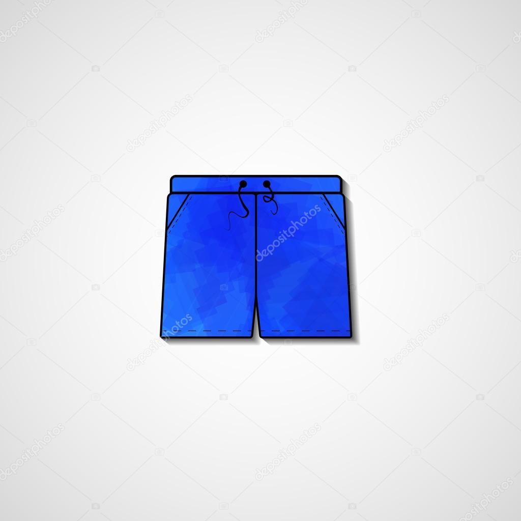 Abstract illustration on shorts