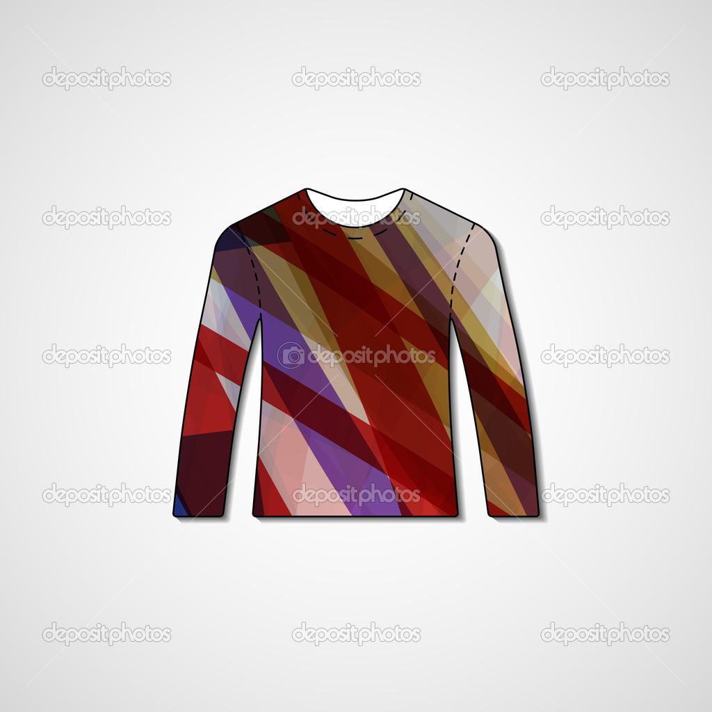 8aa3db995 Abstract illustration on sweater — Stock Vector © llebbid  42360065