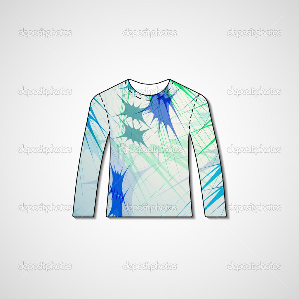 74e739628 Abstract illustration on sweater — Stock Vector © llebbid  42892445