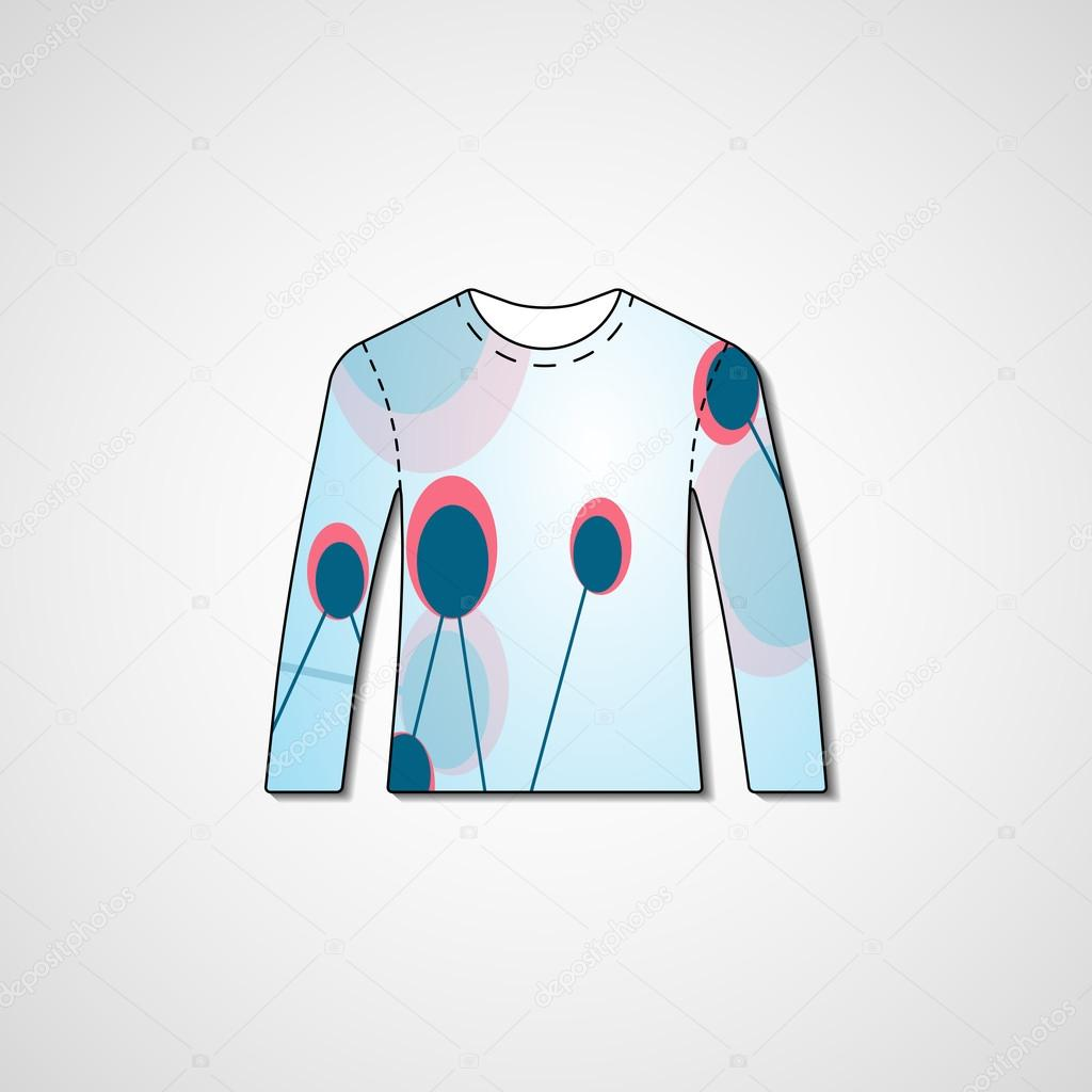d3797bf2b Abstract illustration on sweater — Stock Vector © llebbid  46773651