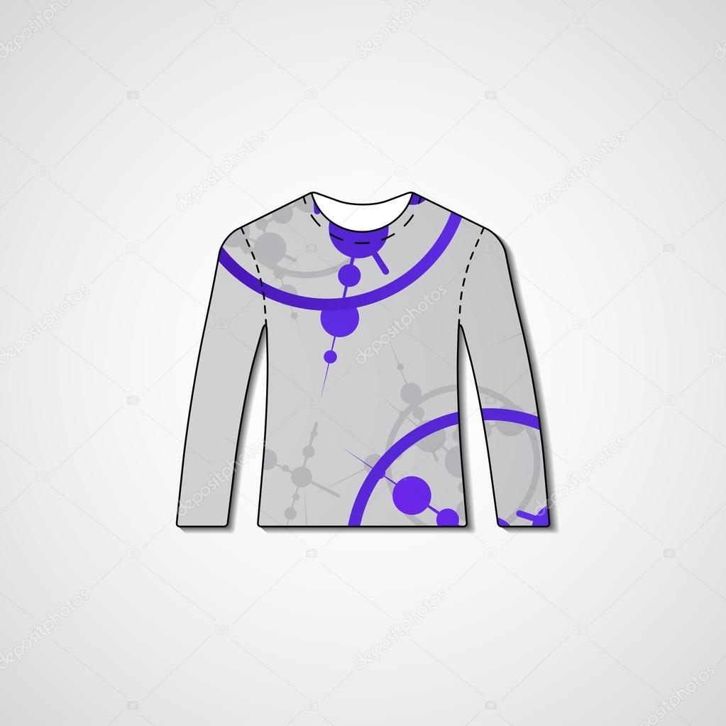 fb3209046 Abstract illustration on sweater — Stock Vector © llebbid  47306443
