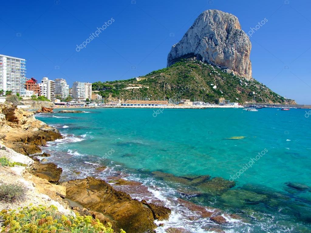 Beach in Calpe,Spain