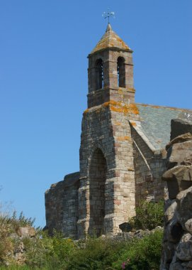 An Old Medevil English Church On The Holy Island Of Lindisfarne