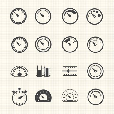 Meter icons. Vector