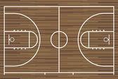 Fényképek баскетбольний майданчик з Паркетна дошка деревини. вектор