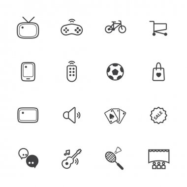 Activity and entertainment icons set