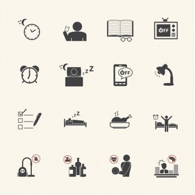 Get Up Early, Daily routine icon set