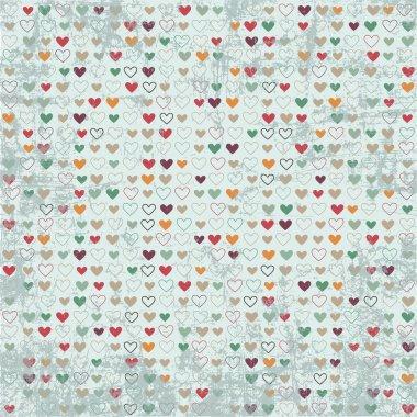 Vintage hearts paper texture