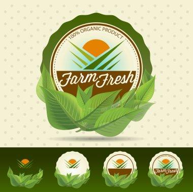 Farm fresh food label.
