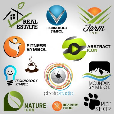 Icons set of modern vector elements