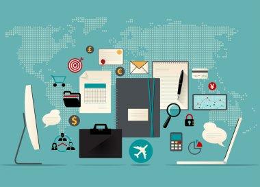 Modern business workspace