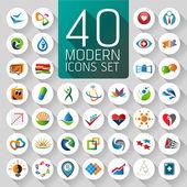 Fényképek Web ikonok és üzleti és absztrakt szimbólumokkal