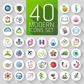 Fotografie sada loga, webové ikony a symboly