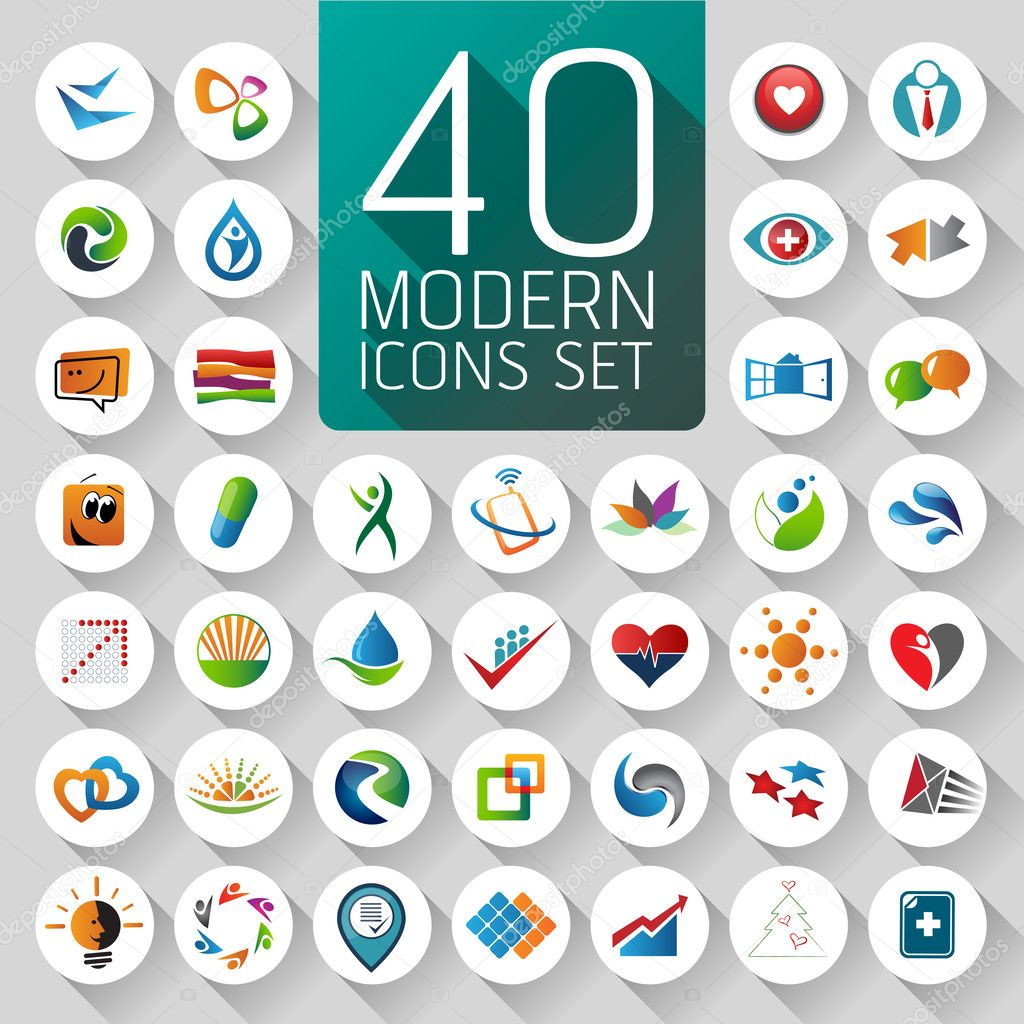 Web Icons and business and abstract symbols