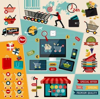 Symbols of online payment methods