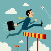 člověk přeskočit překážky k úspěchu