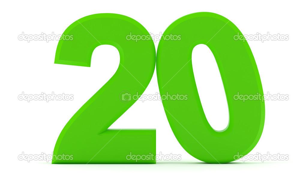 Número 20 — Foto De Stock