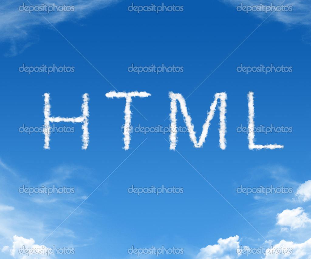 HTML - word cloud