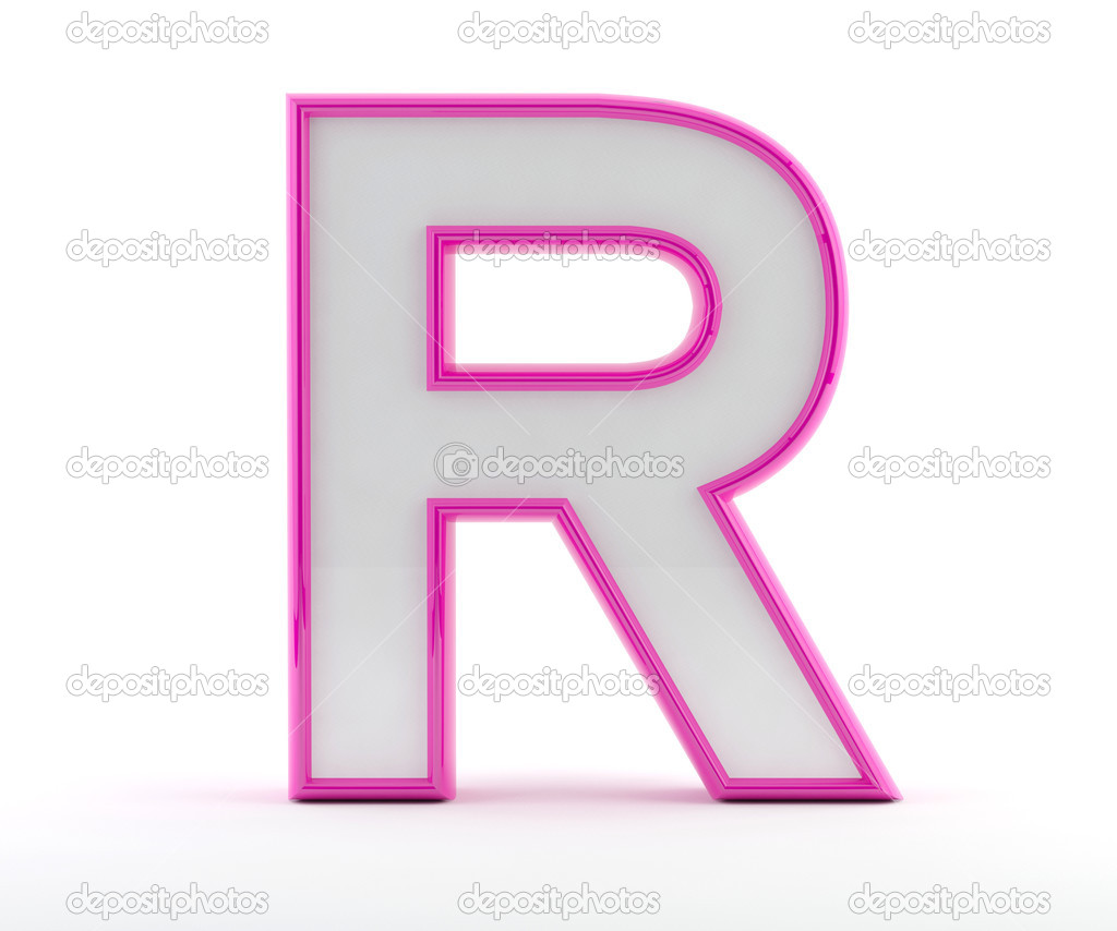 3d letter with glossy pink outline letter r stock photo 3d letter with glossy pink outline letter r photo by maziaragha thecheapjerseys Images