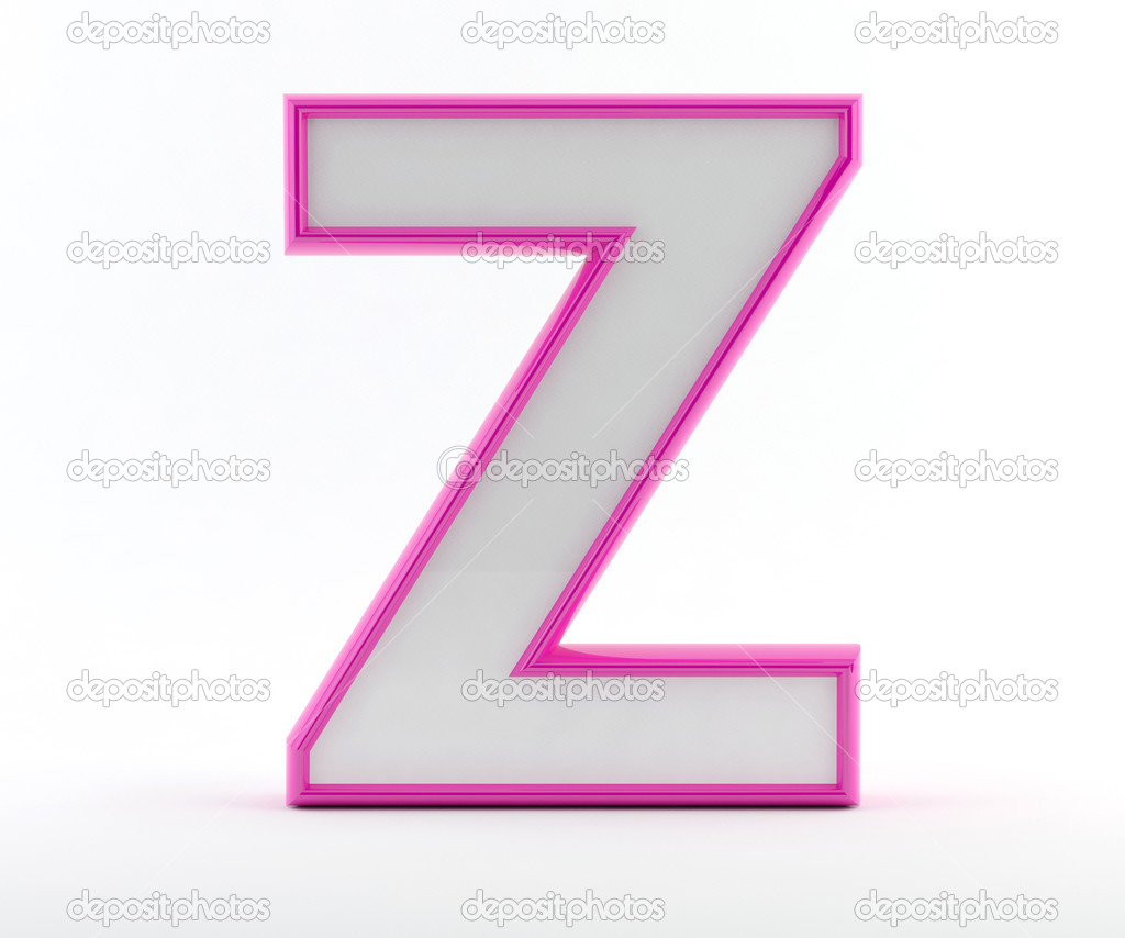 3d letter with glossy pink outline letter z stock photo 3d letter with glossy pink outline letter z photo by maziaragha spiritdancerdesigns Image collections