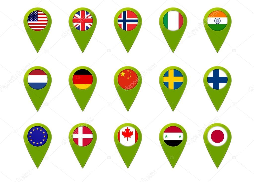 World map flag pins stock photo maziaragha 33366089 world map flag pins stock photo gumiabroncs Images