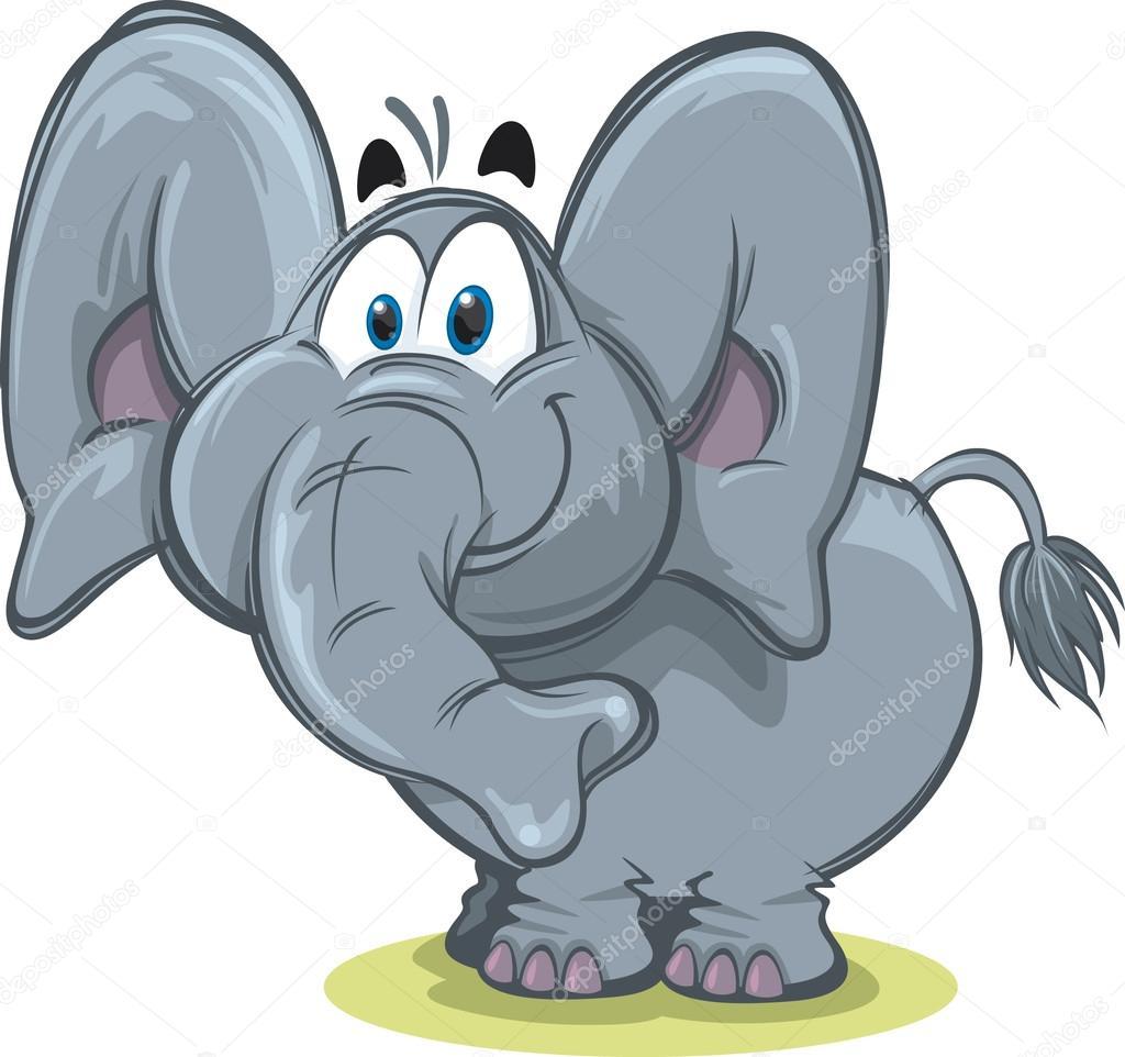 Cute Elephant — Stock Vector © scribblestoons #19744457