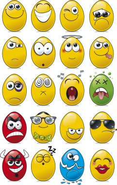 Egg Shaped Emoticon Cartoon Collection.