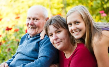 Grandfather with Alzheimer's Disease