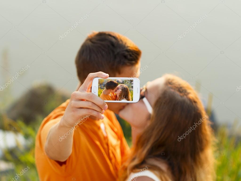 Selfie - Kissing Couple