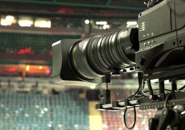 TV camera, TV broadcast hockey