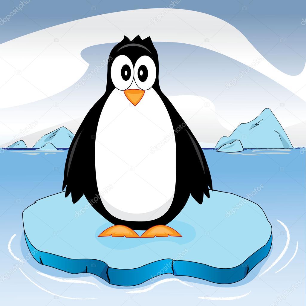Pinguin Auf Eisscholle Malen