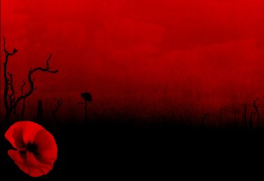 WW1 First World War Abstract Background with Poppy