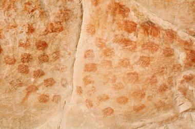 Bushmen paintings in the Elands cave - palmprints