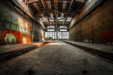 Large industrial interior