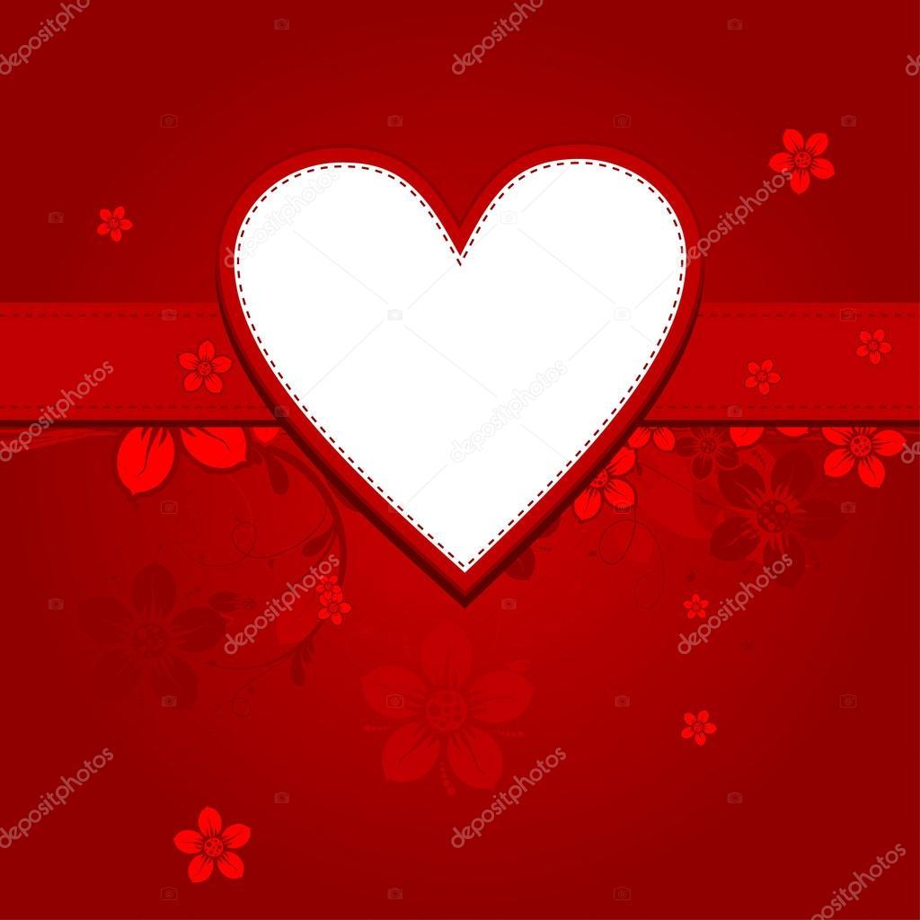 Vorlage Herz Grußkarte, Vektor — Stockvektor © Tolchik #25251289