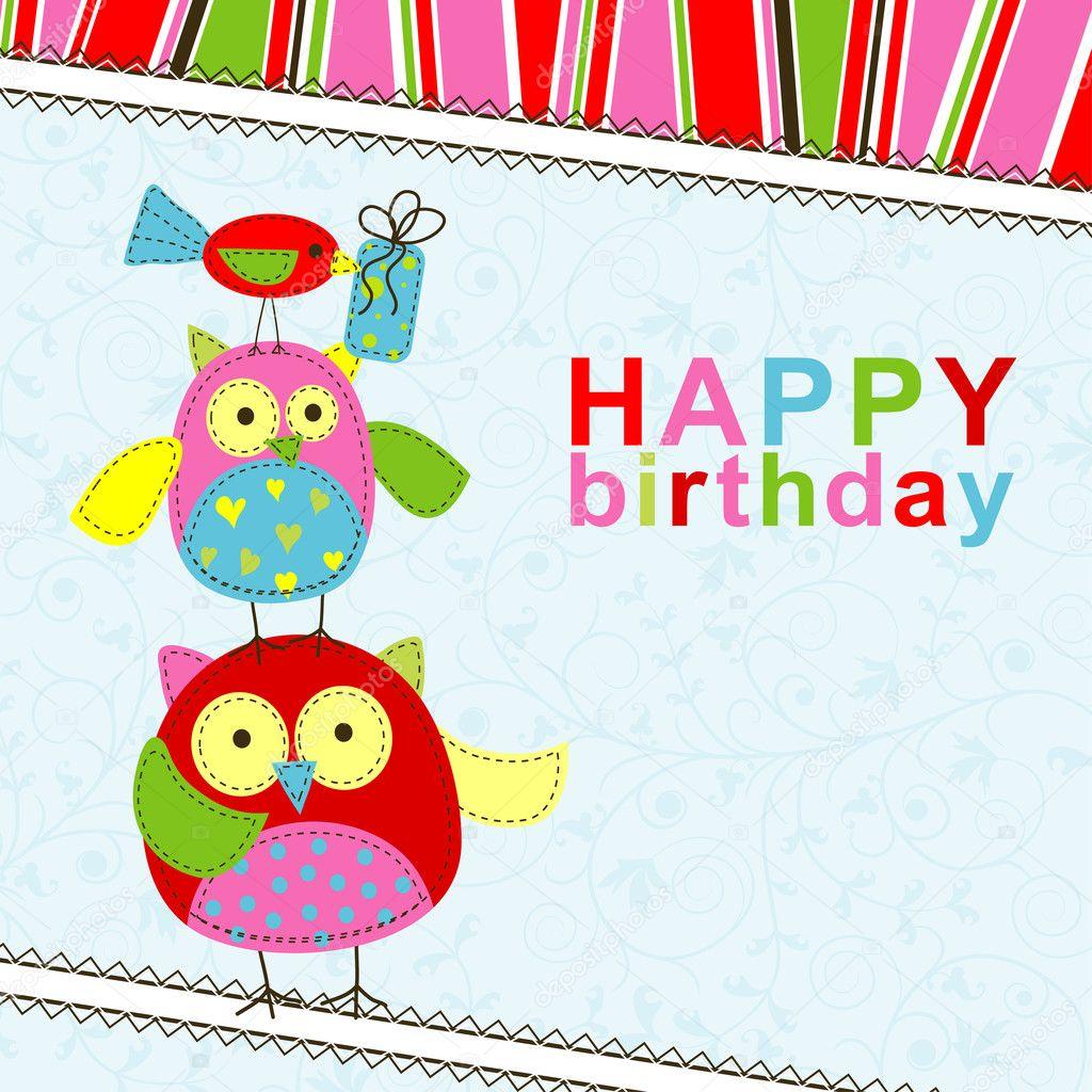 Шаблон маленькой открытки с днем рождения