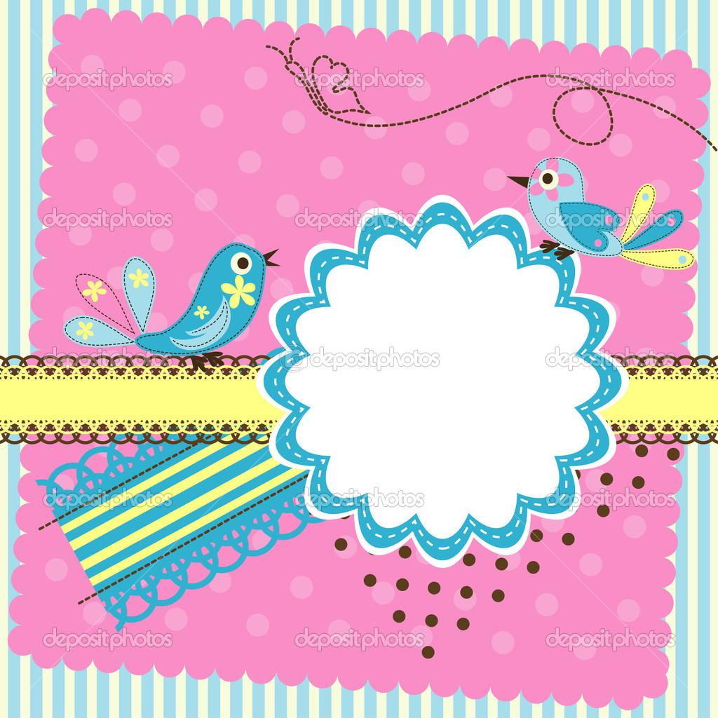 Вектор для открытки, цветами для