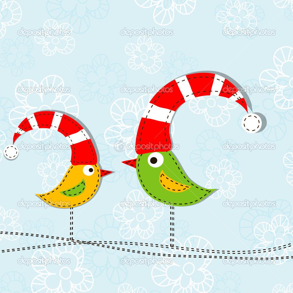 plantilla tarjeta de felicitación de Navidad, vector — Vector de ...