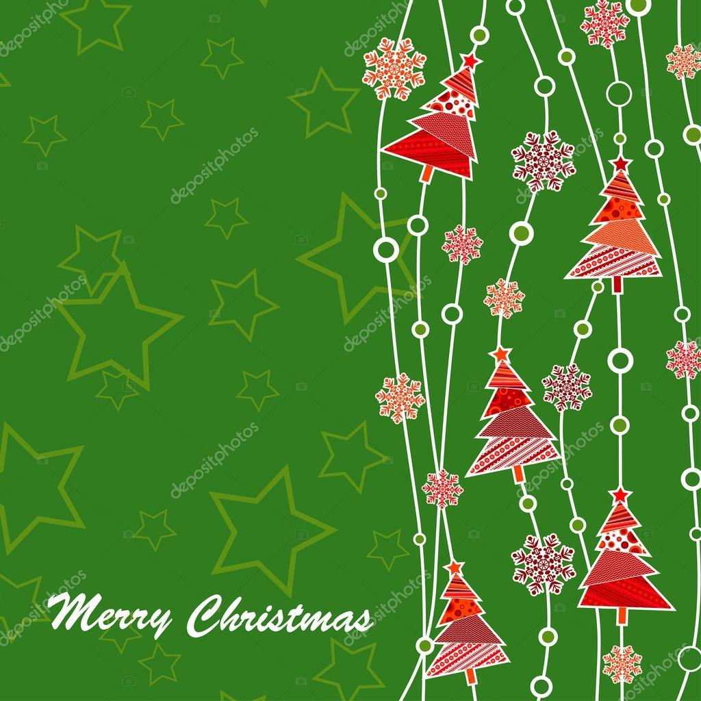 plantilla tarjeta de felicitación de Navidad — Archivo Imágenes ...
