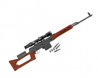 sniper rifle SVD by Dragunov with optic sight